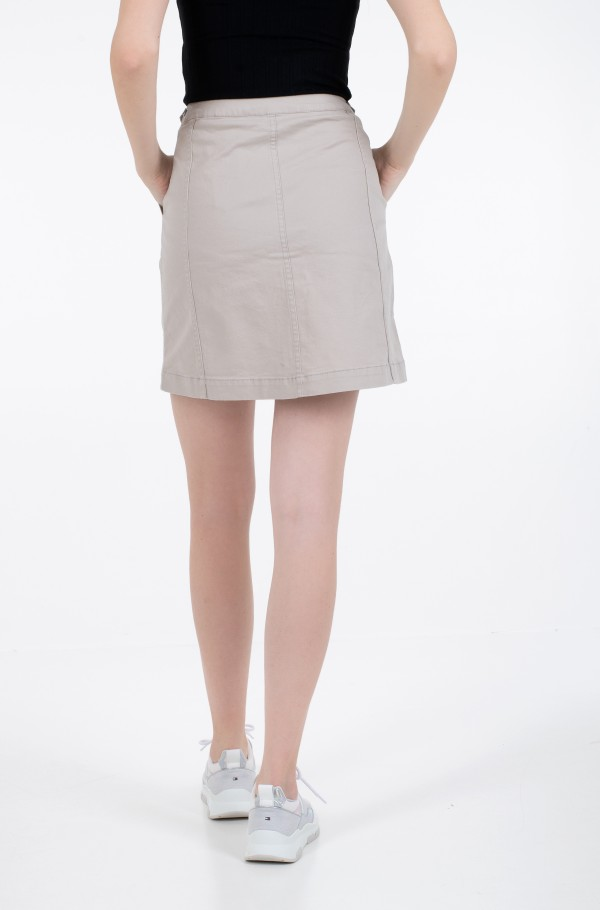 COTTON TWILL UTILITY SKIRT-hover