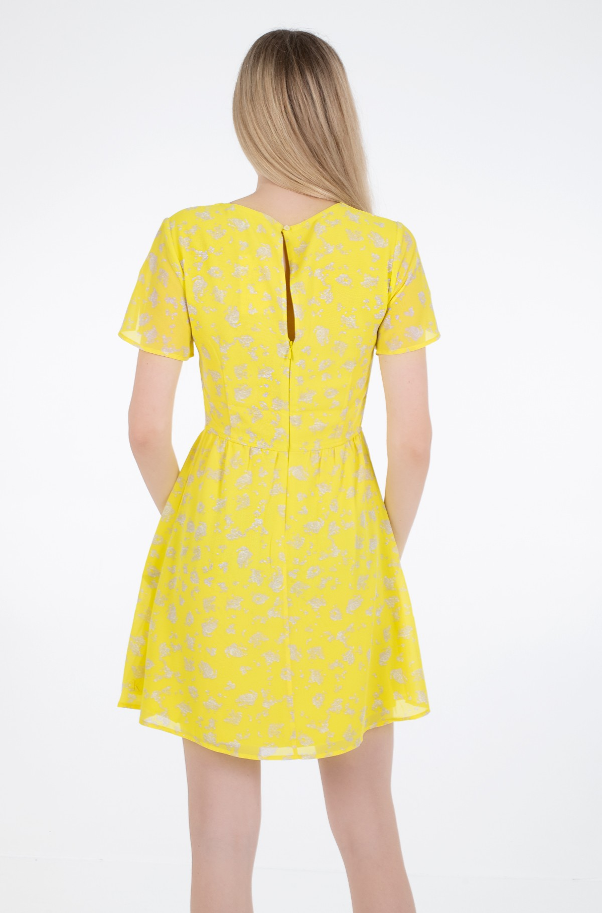 Dress V-NECK CHIFFON DRESS-full-2