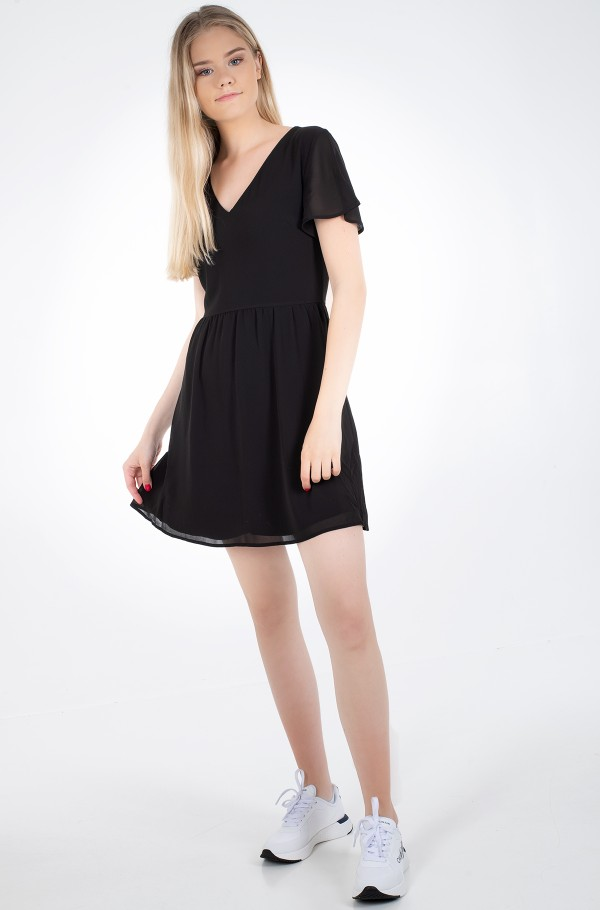 V-NECK CHIFFON DRESS