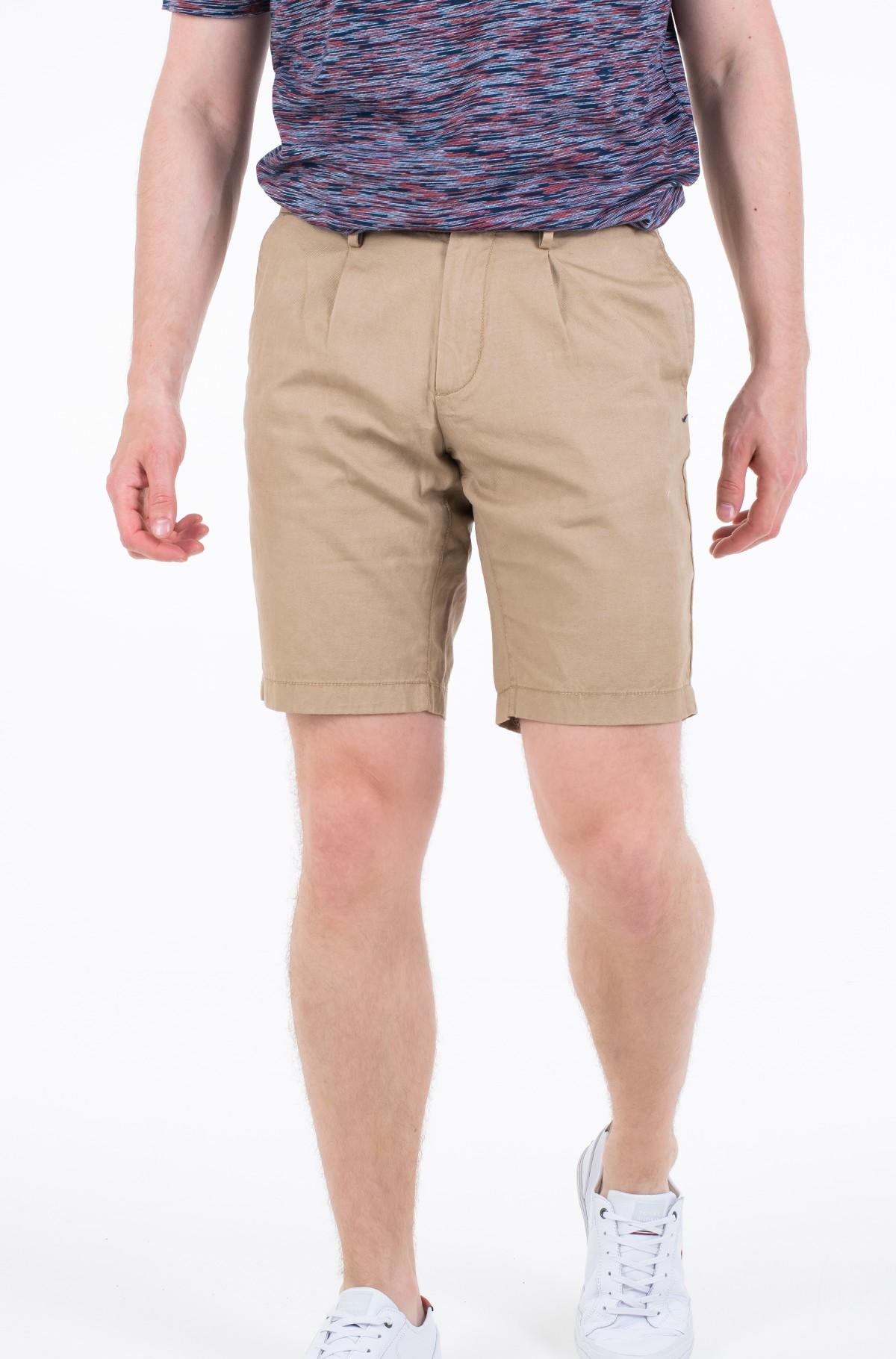 Lühikesed püksid BROOKLYN PLEATED LINEN SHORT-full-1
