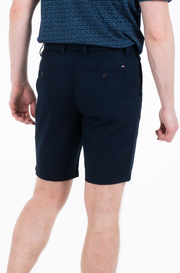 BROOKLYN PLEATED LINEN SHORT-hover