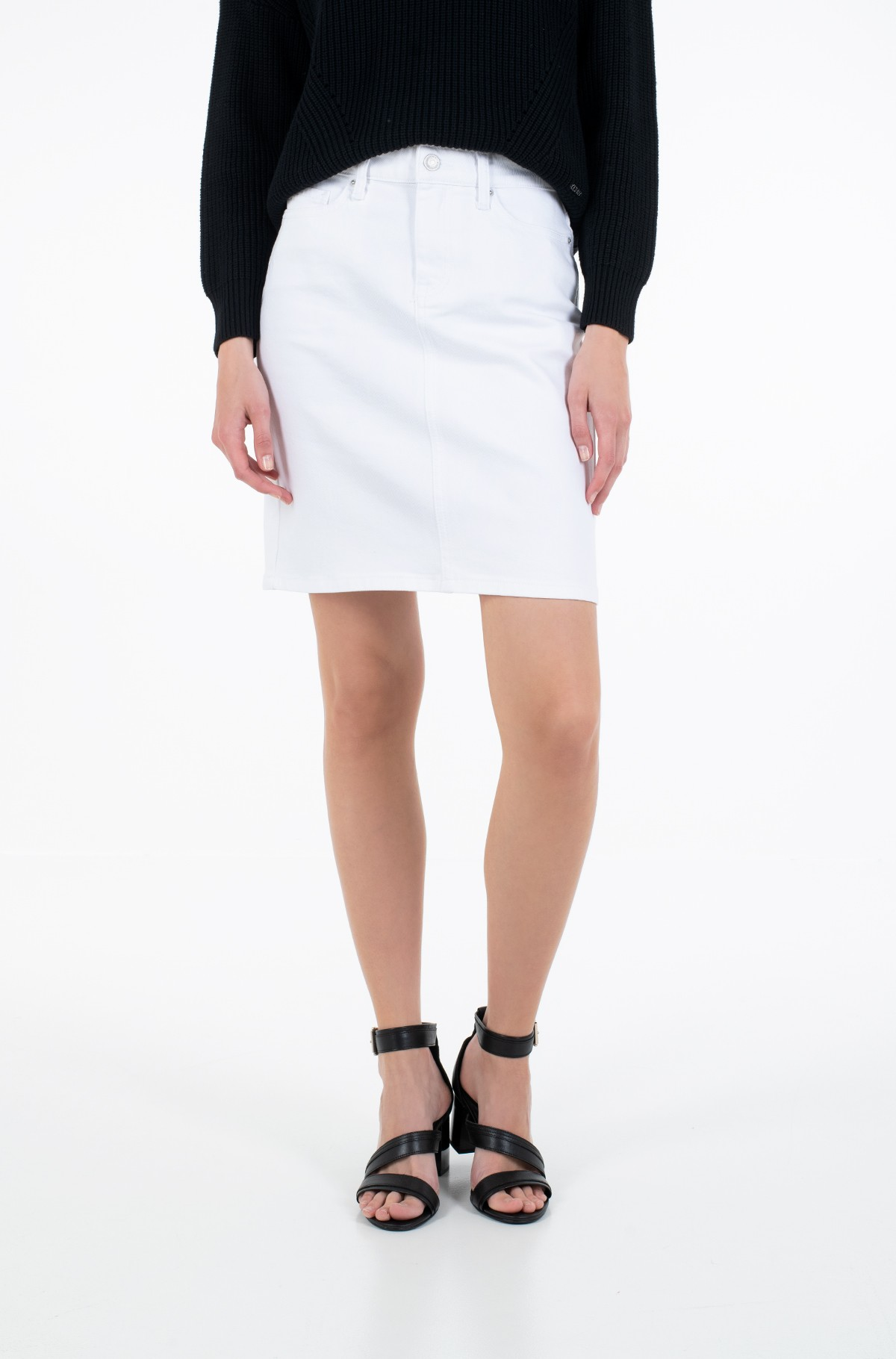Teksaseelik ROME STRAIGHT HW SKIRT CLR-full-1