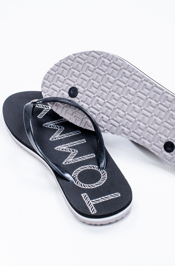 TOMMY FOOTBED FLAT BEACH SANDAL-hover