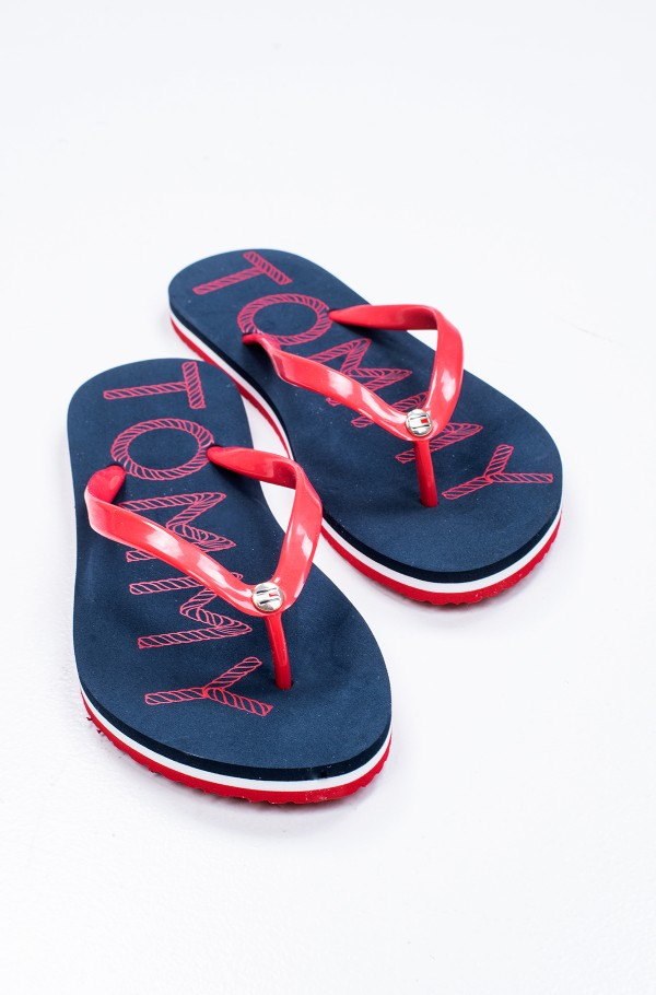 TOMMY FOOTBED FLAT BEACH SANDAL