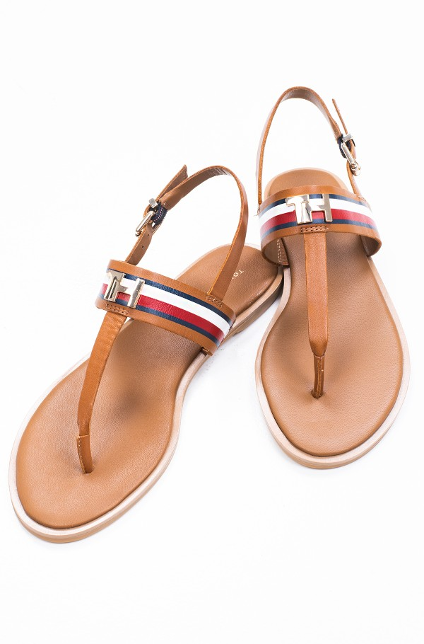 CORPORATE LEATHER FLAT SANDAL