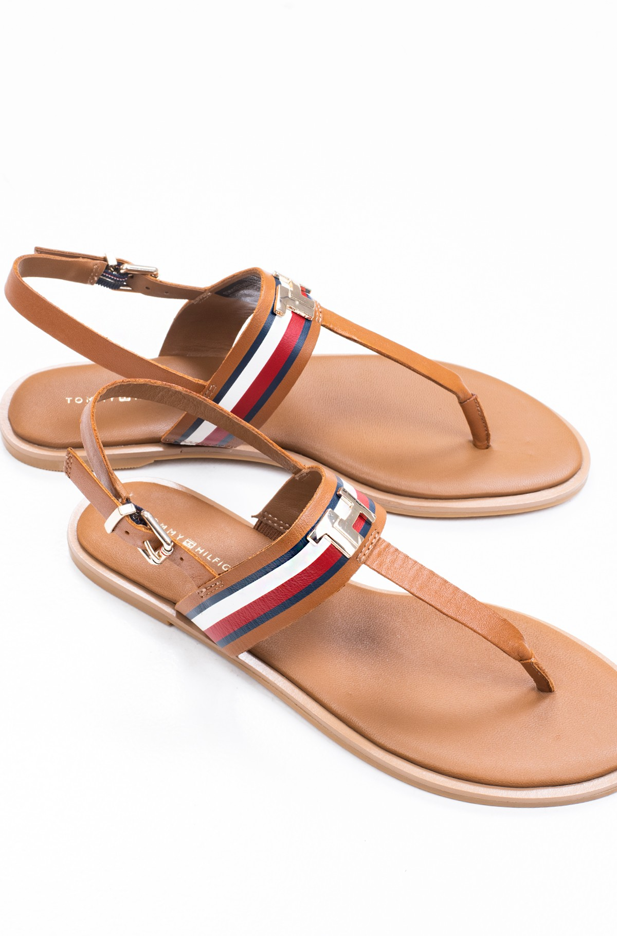 Basutės CORPORATE LEATHER FLAT SANDAL-full-2