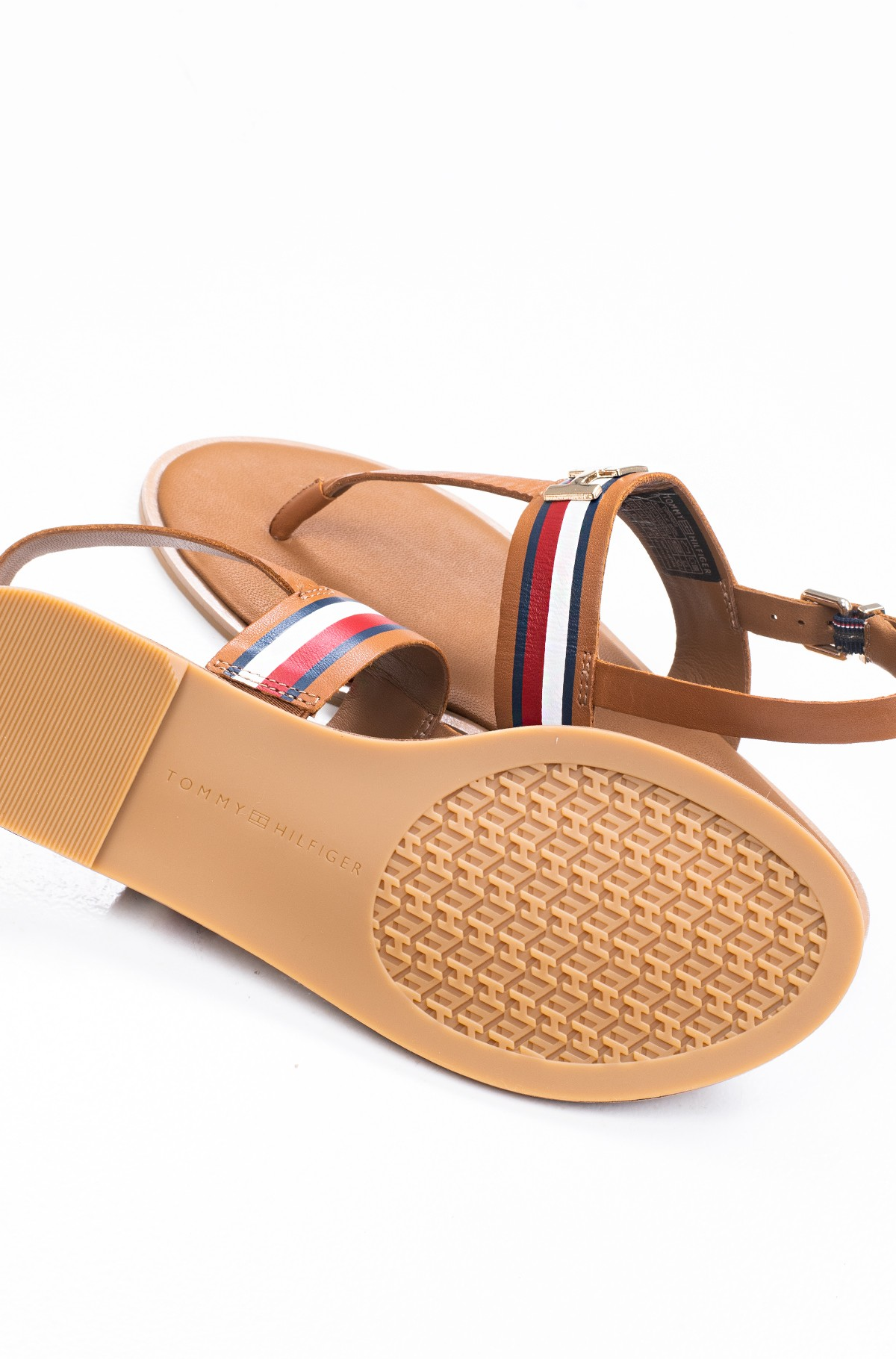 Basutės CORPORATE LEATHER FLAT SANDAL-full-3