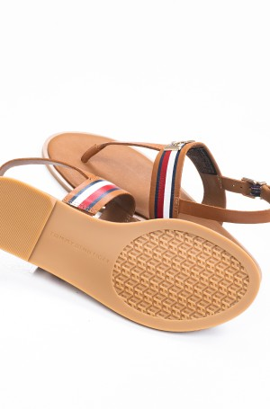 Basutės CORPORATE LEATHER FLAT SANDAL-3