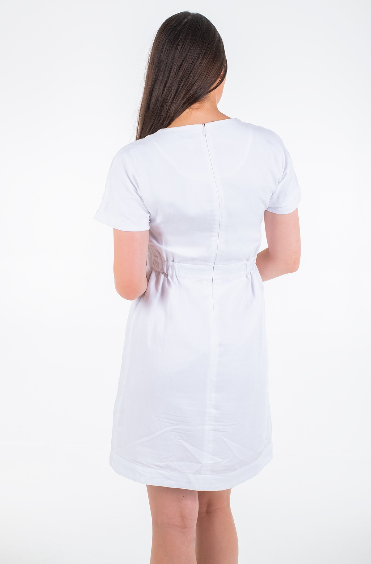 Kleit LINEN TENCEL SS DRESS	-full-2