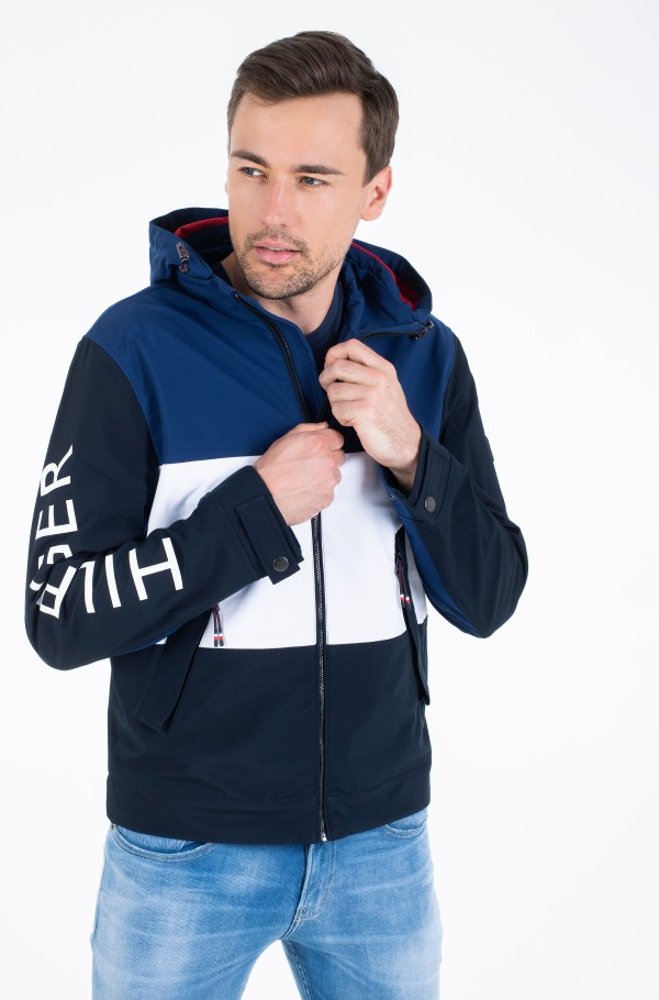 FLEX COLOUR BLOCK HOODED BLOUSON