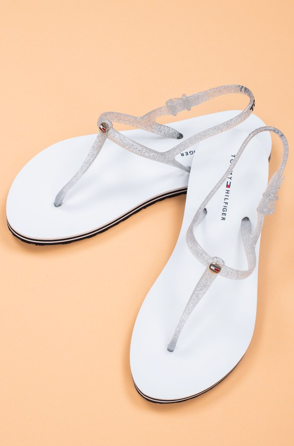IRREDESCENT FLAT BEACH SANDAL-hover