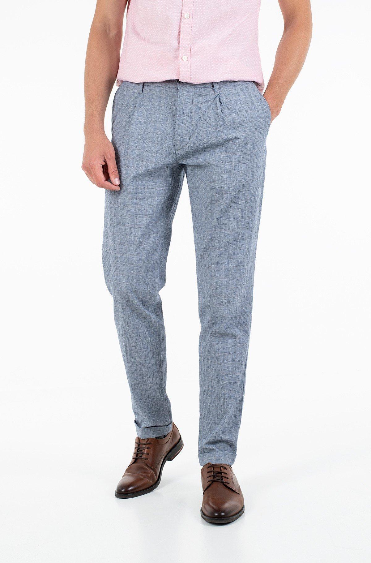 Fabric trousers TAPERED CHINO SEERSUCKER CHECK-full-1