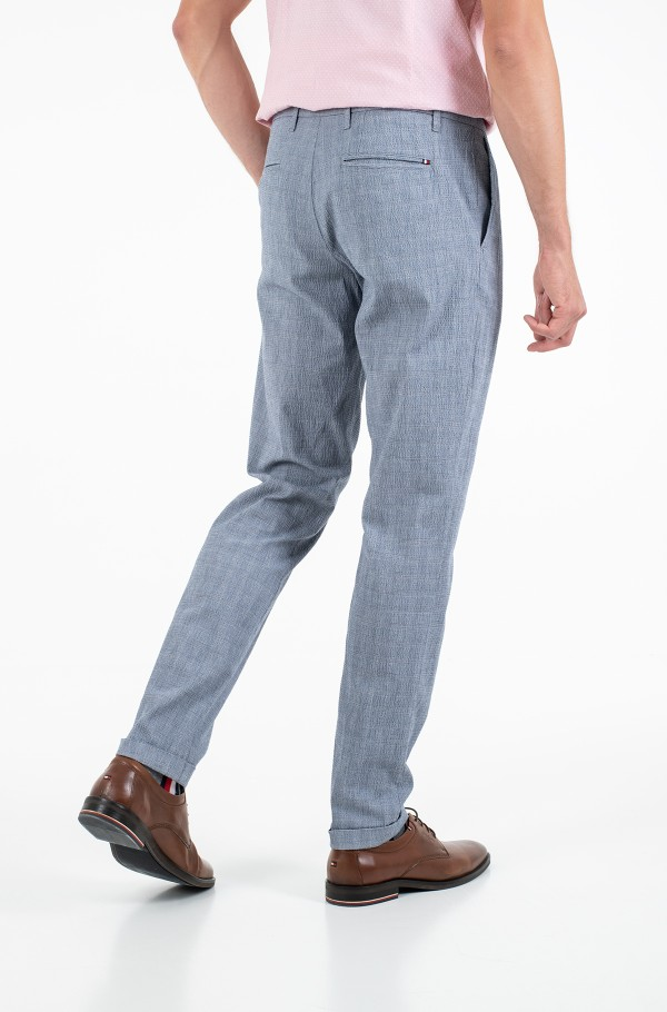 TAPERED CHINO SEERSUCKER CHECK-hover