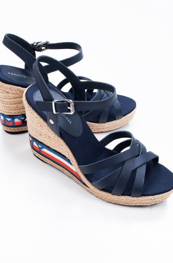 TOMMY SEQUINS HIGH WEDGE SANDAL