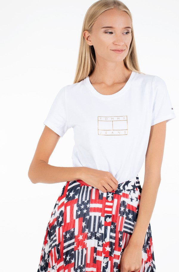 TJW METALLIC OUTLINE FLAG TEE