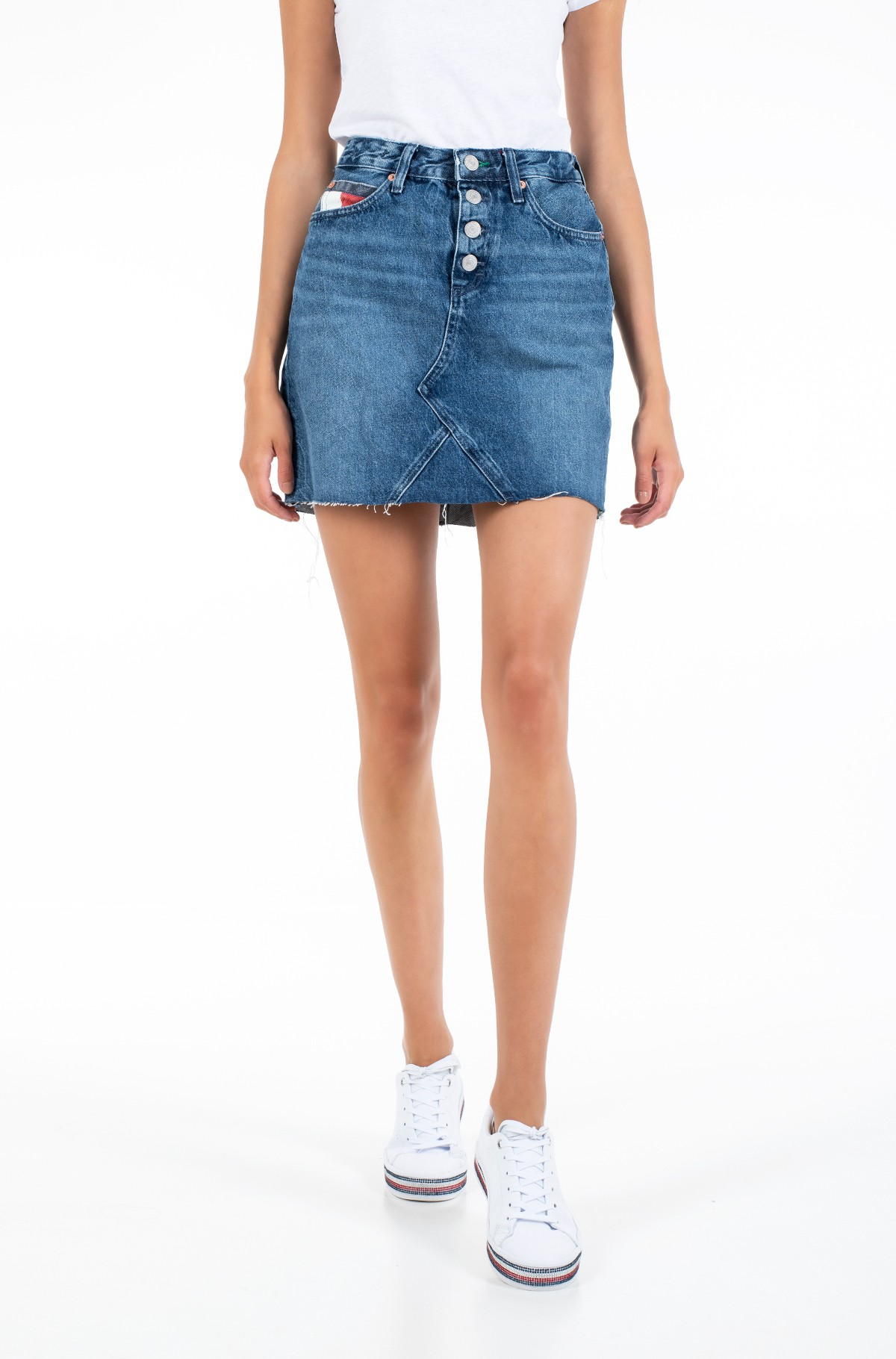 Teksaseelik SHORT DENIM SKIRT BTN FLY SVMBR-full-1