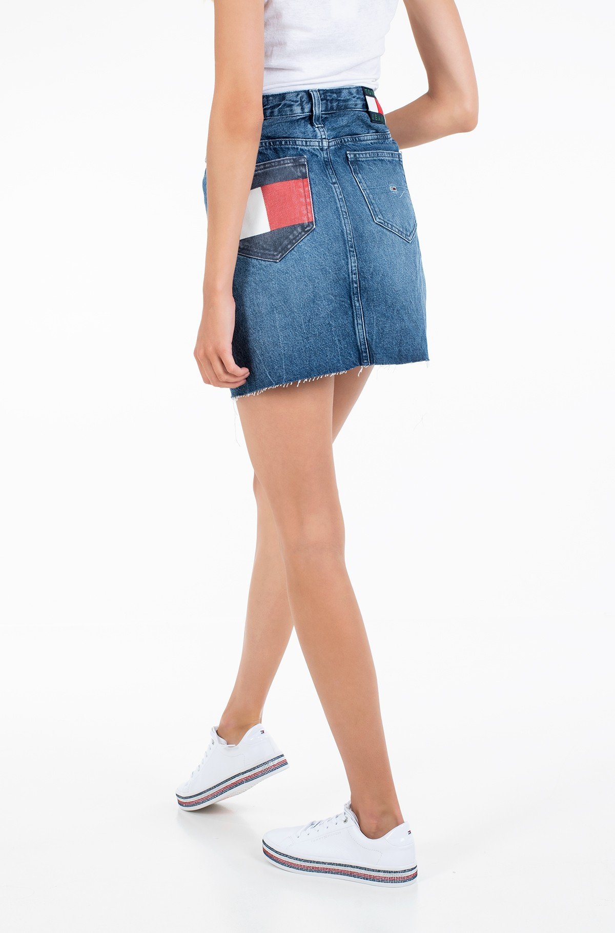 Teksaseelik SHORT DENIM SKIRT BTN FLY SVMBR-full-2