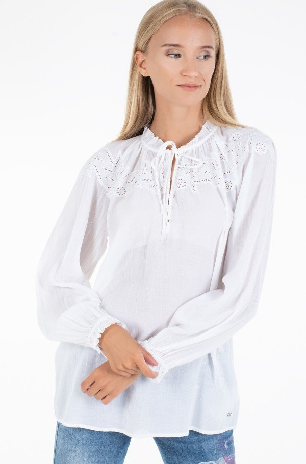 RUTH EMB BLOUSE LS