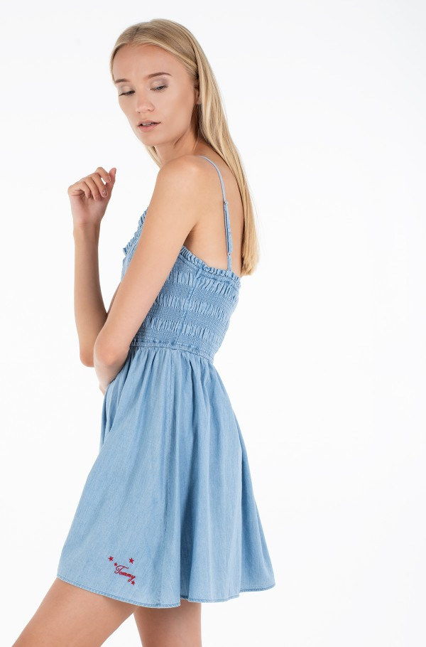TJW SUMMER CHAMBRAY SMOCK DRESS