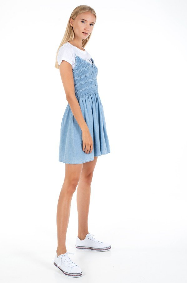 TJW SUMMER CHAMBRAY SMOCK DRESS-hover