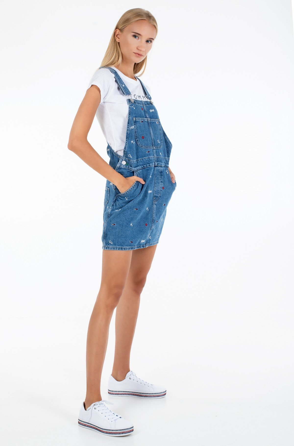 Džinsu kleita CLASSIC DUNGAREE DRESS STCRB-full-2