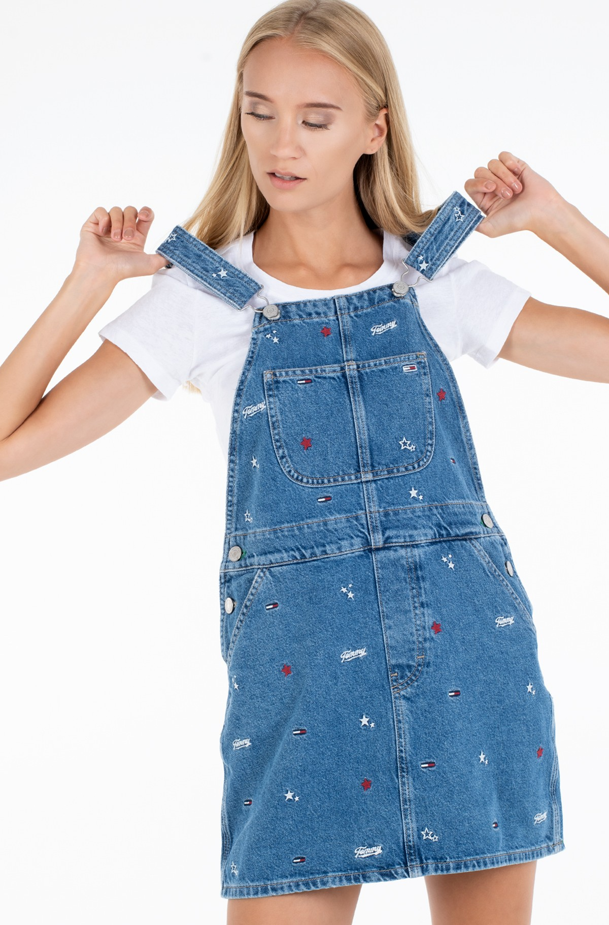 Džinsu kleita CLASSIC DUNGAREE DRESS STCRB-full-3