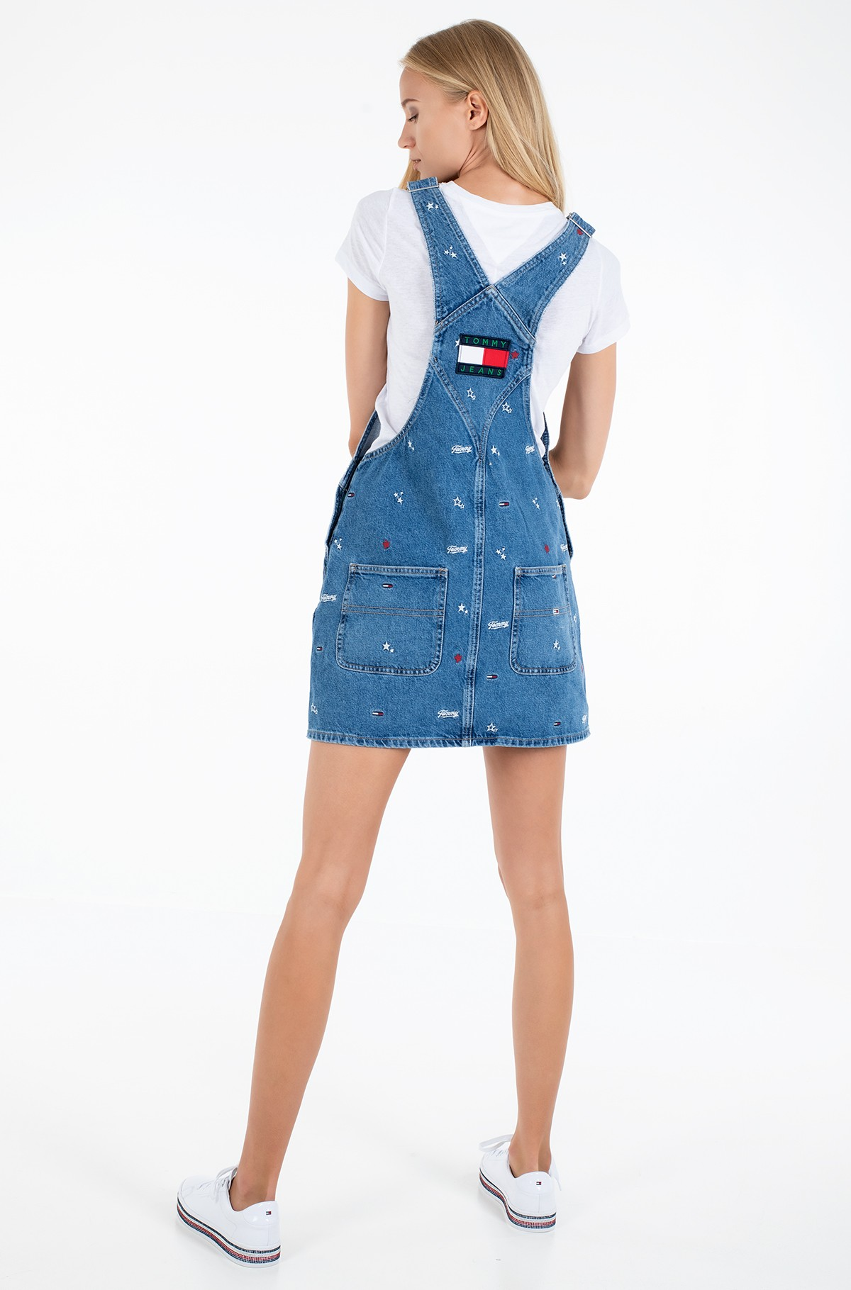 Džinsu kleita CLASSIC DUNGAREE DRESS STCRB-full-4