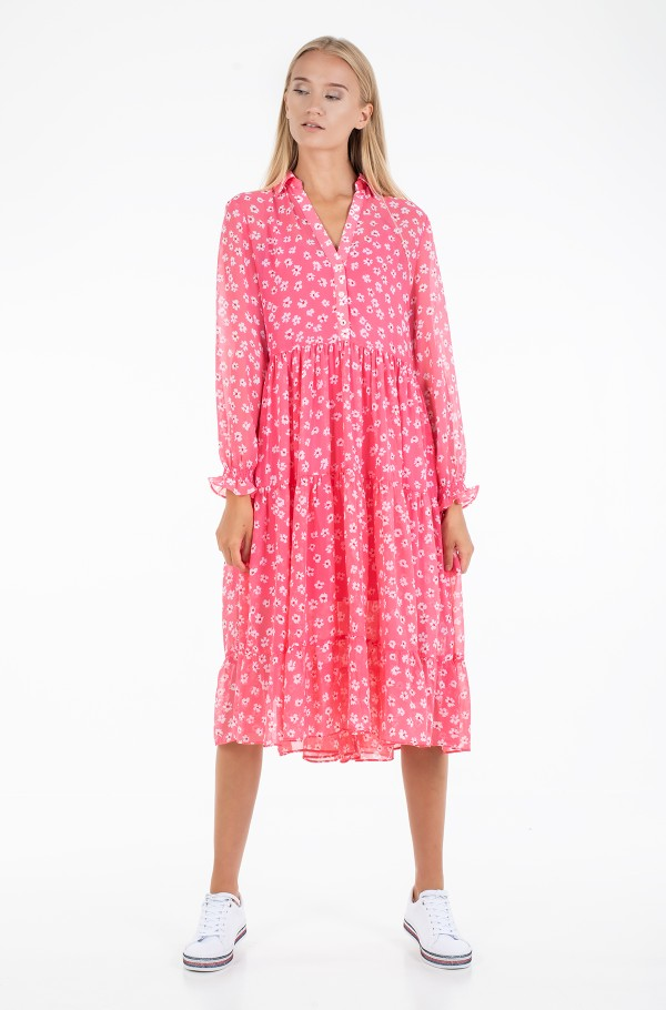 TJW FLORAL MIDI SHIRT DRESS-hover