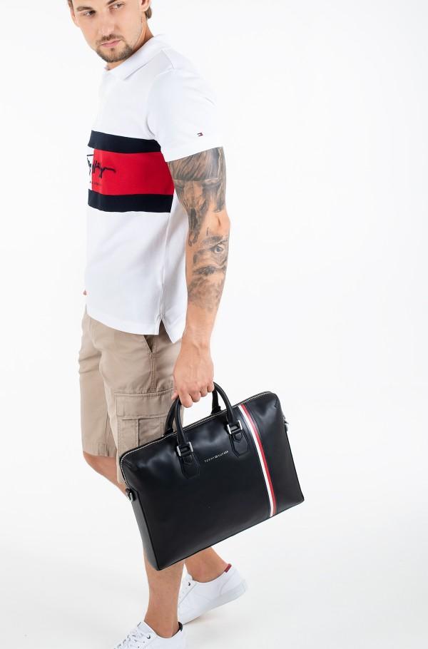 FINE LEATHER SLIM COMP BAG