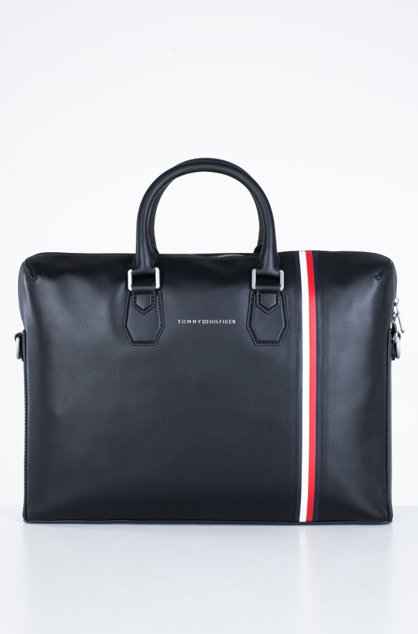 FINE LEATHER SLIM COMP BAG-hover