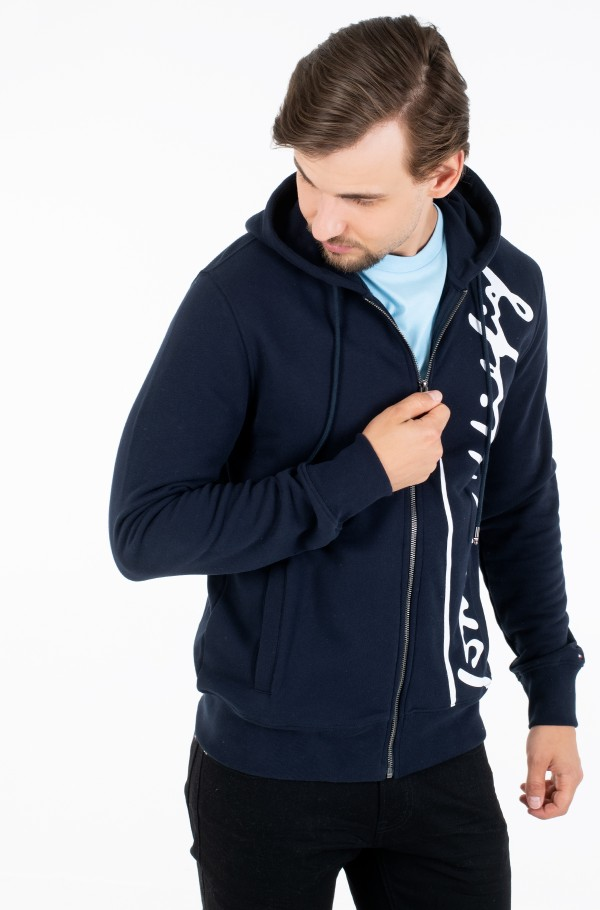 SIGNATURE HOODED ZIP THROUGH-hover
