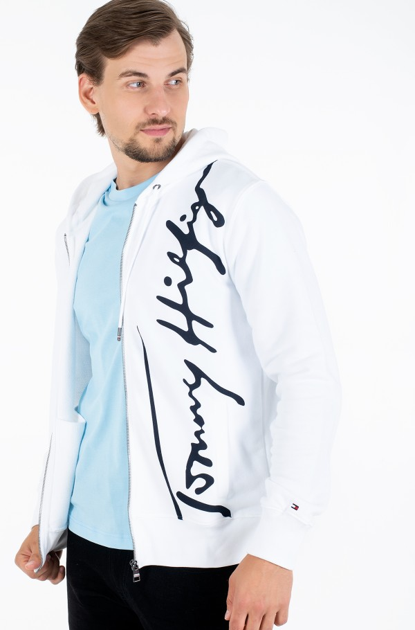 SIGNATURE HOODED ZIP THROUGH