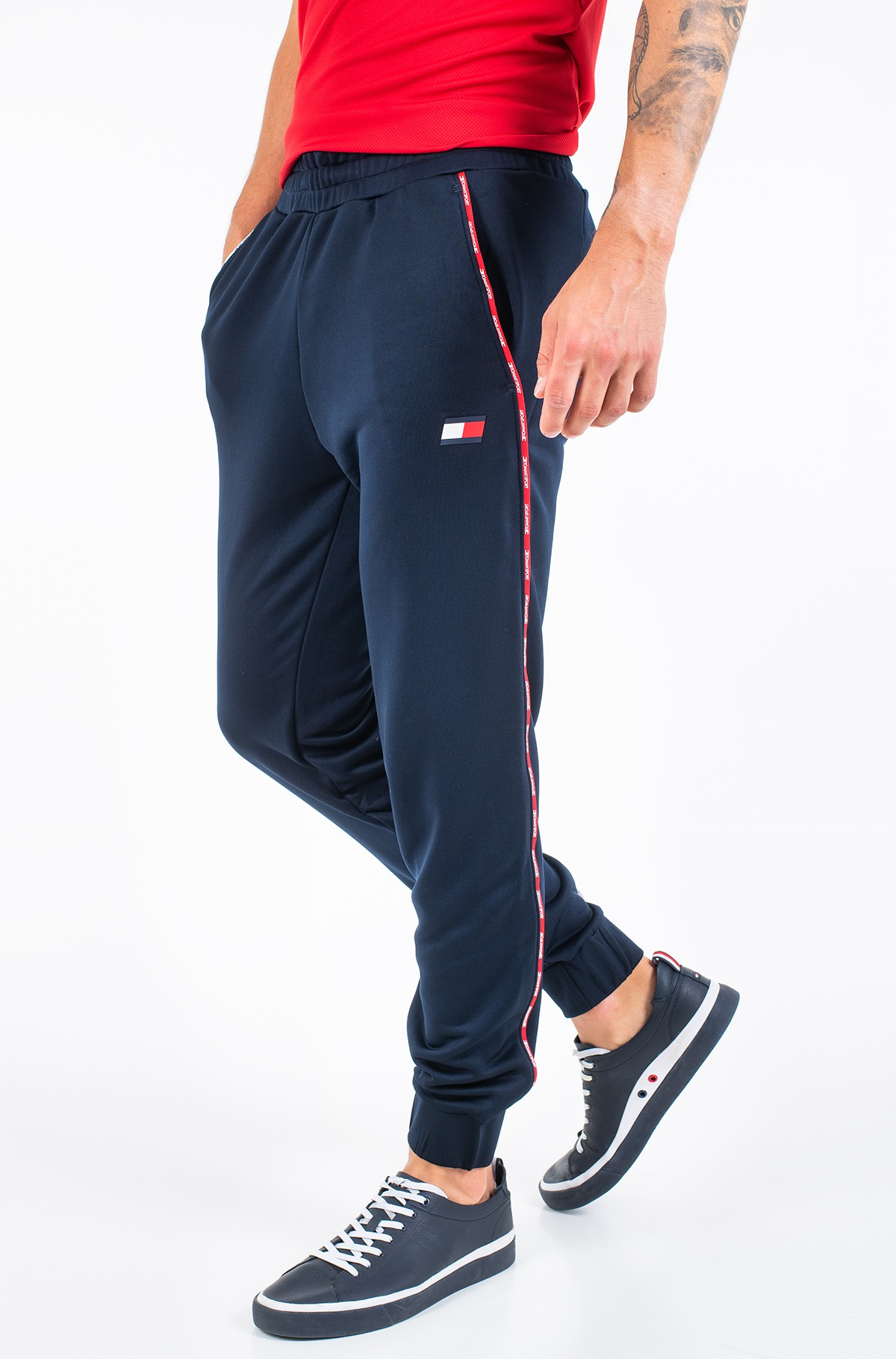 Sports pants PIPING TRACKSUIT CUFFED PANT-full-1