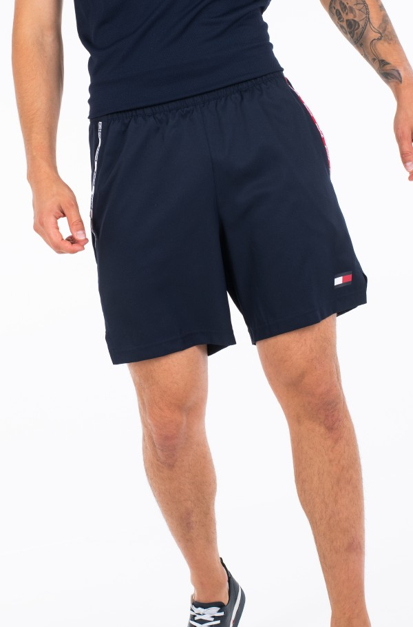 STRETCH WOVEN PIPING SHORT