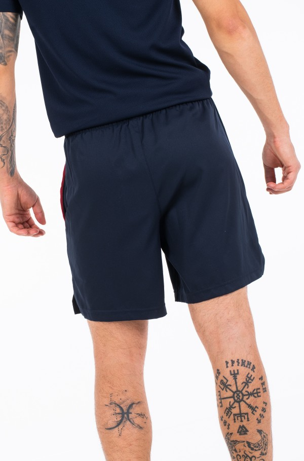 STRETCH WOVEN PIPING SHORT-hover