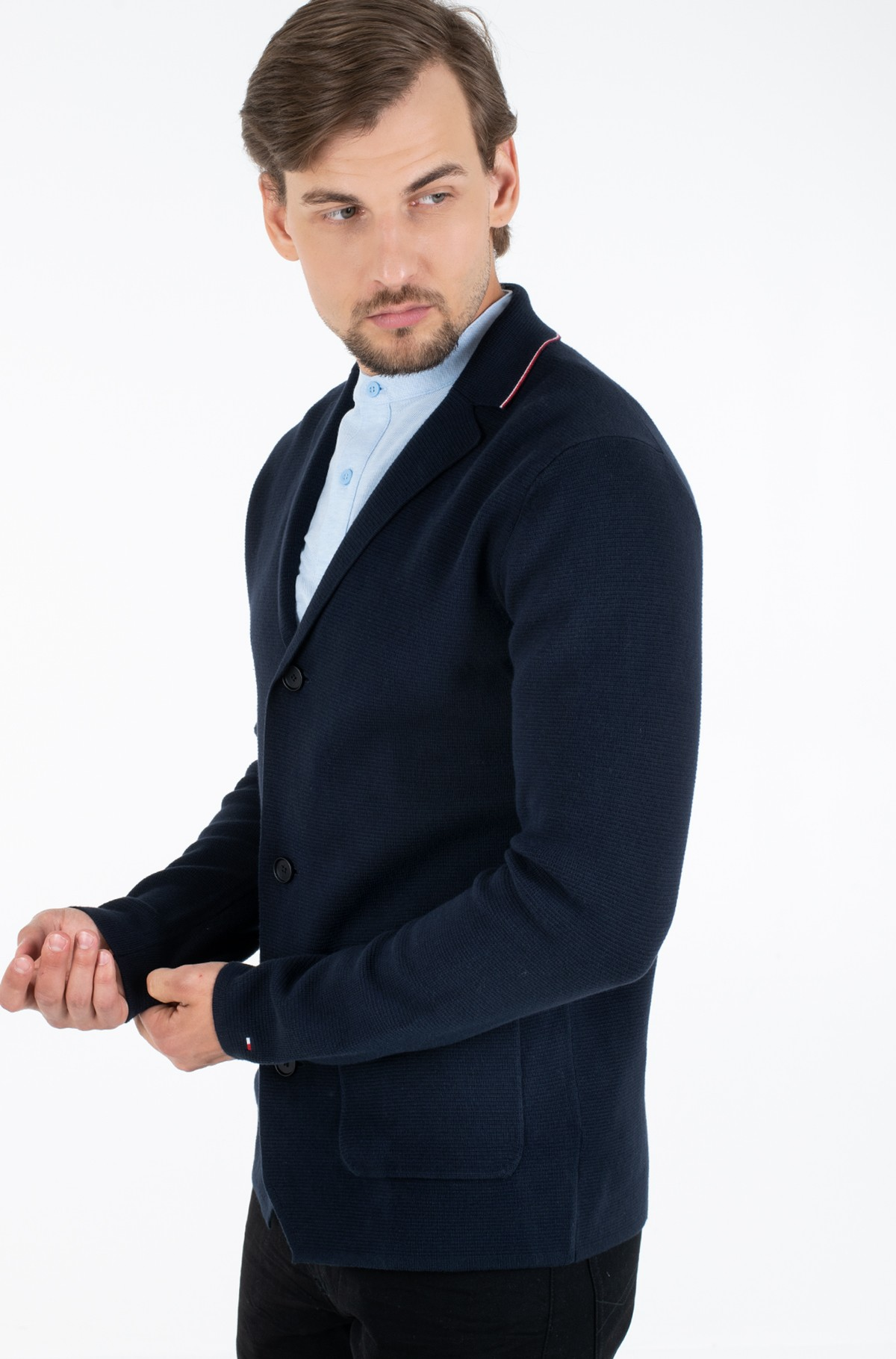 Kardiganas TIPPED SINGLE BREASTED BLAZER-full-1