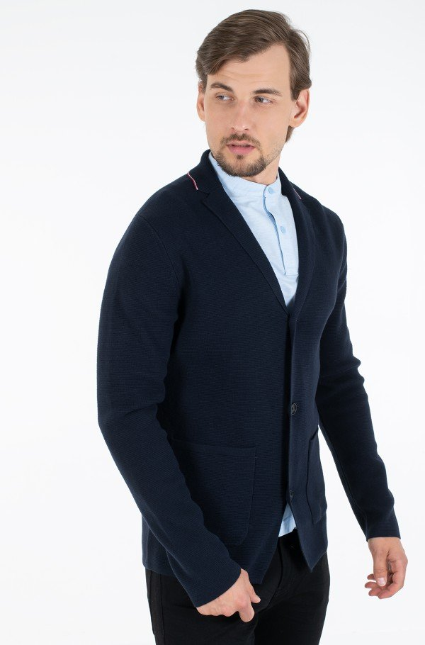 TIPPED SINGLE BREASTED BLAZER-hover