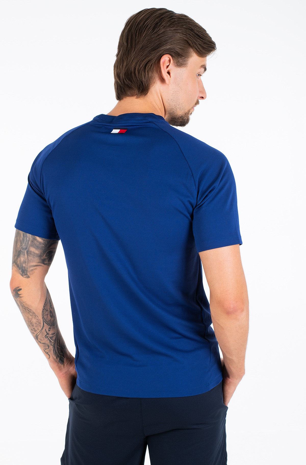 Sportiniai marškinėliai TRAINING TOP MESH BACK LOGO-full-3