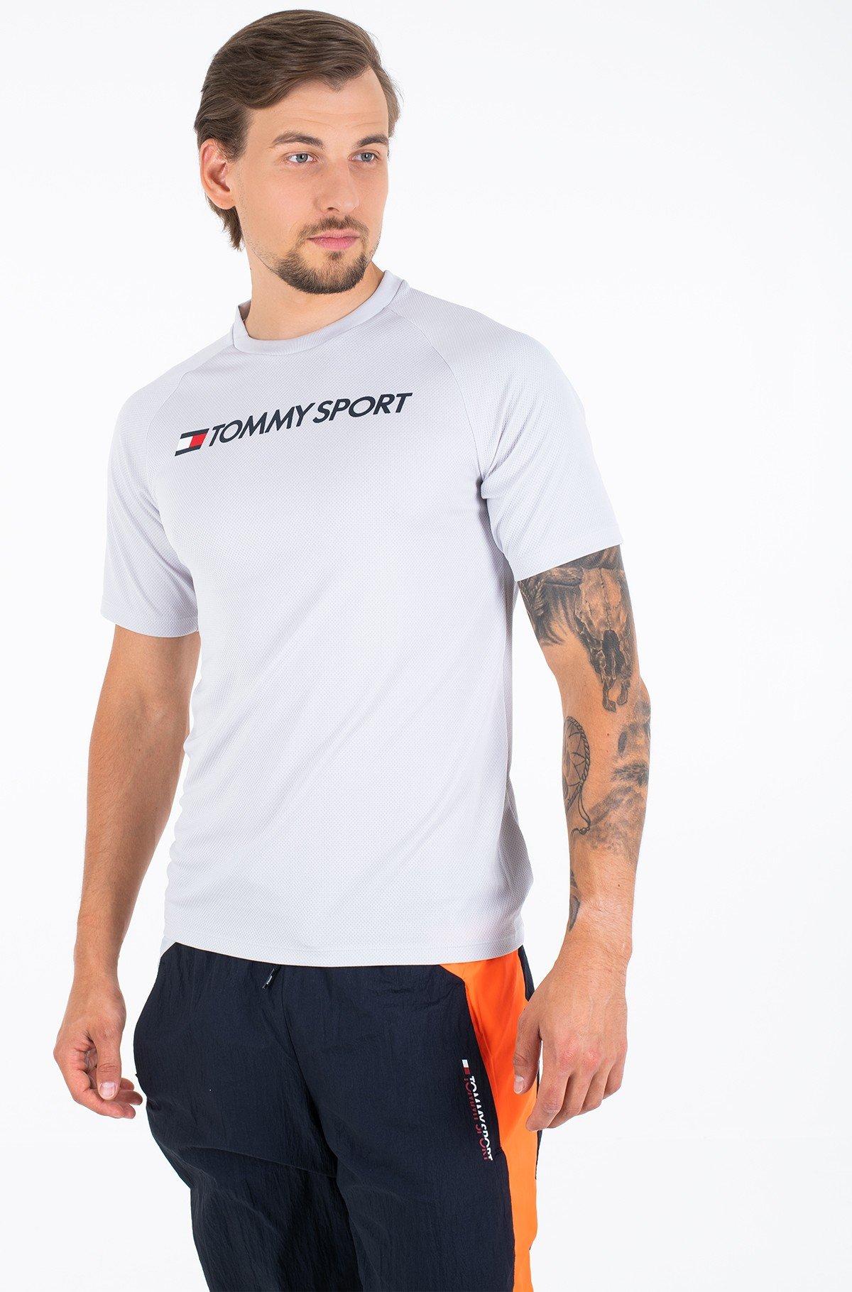 Sportiniai marškinėliai TRAINING TOP MESH BACK LOGO-full-1