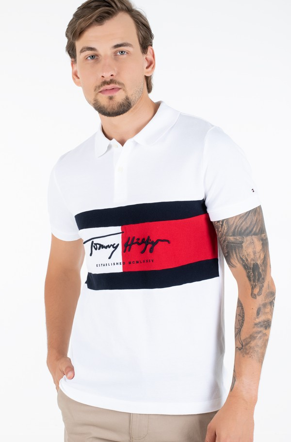 AUTOGRAPH FLAG SLIM POLO
