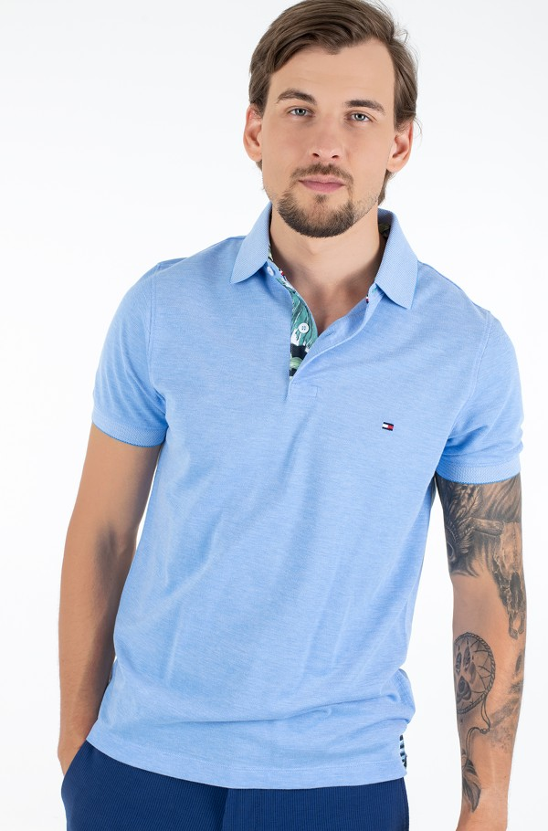PRINTED PLACKET SLIM POLO