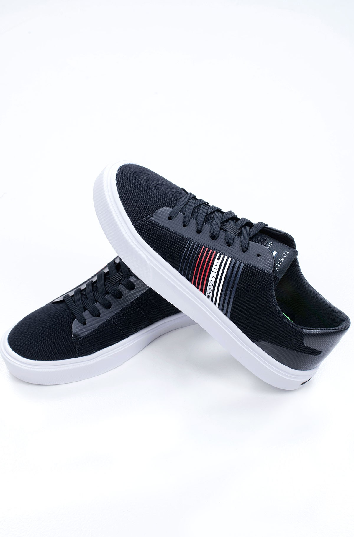 Tennised LIGHTWEIGHT STRIPES KNIT SNEAKER-full-2