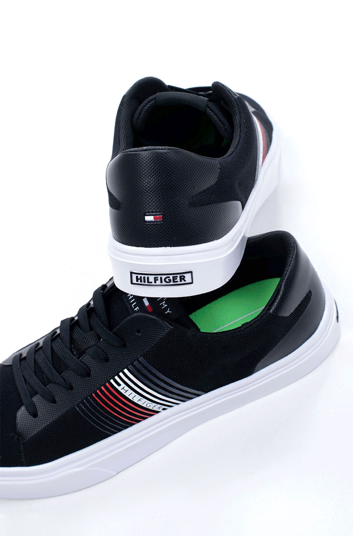 Tennised LIGHTWEIGHT STRIPES KNIT SNEAKER-full-3