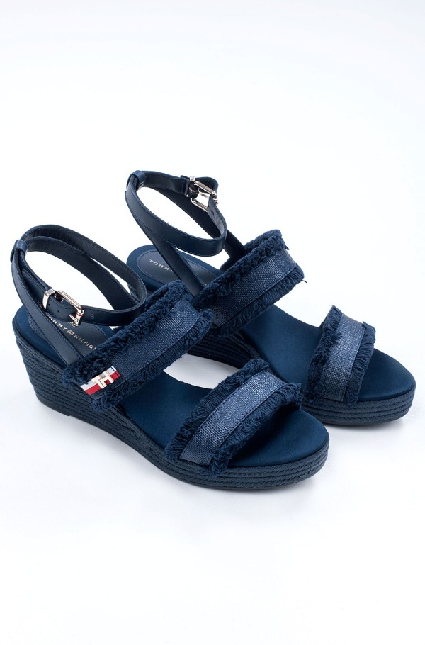 TOMMY FRINGES MID WEDGE SANDAL