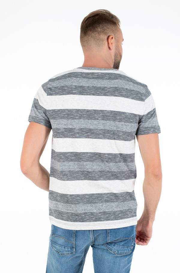 HEATHER STRIPE TEE-hover
