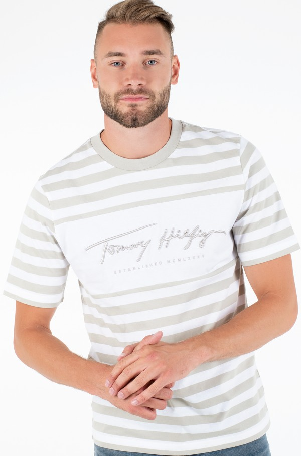 SIGNATURE STRIPE RELAXED FIT TEE