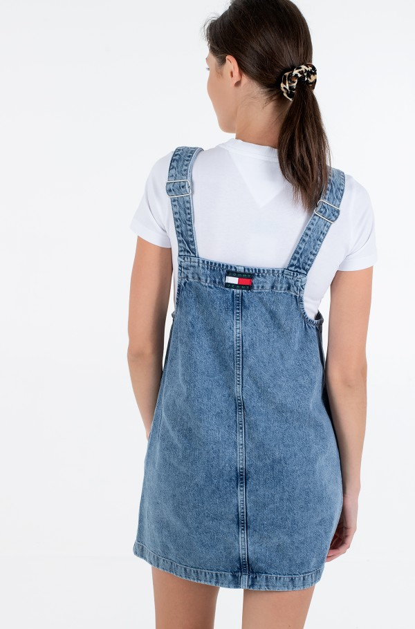 SHORT DUNGAREE SNAP DRESS MMBRG-hover