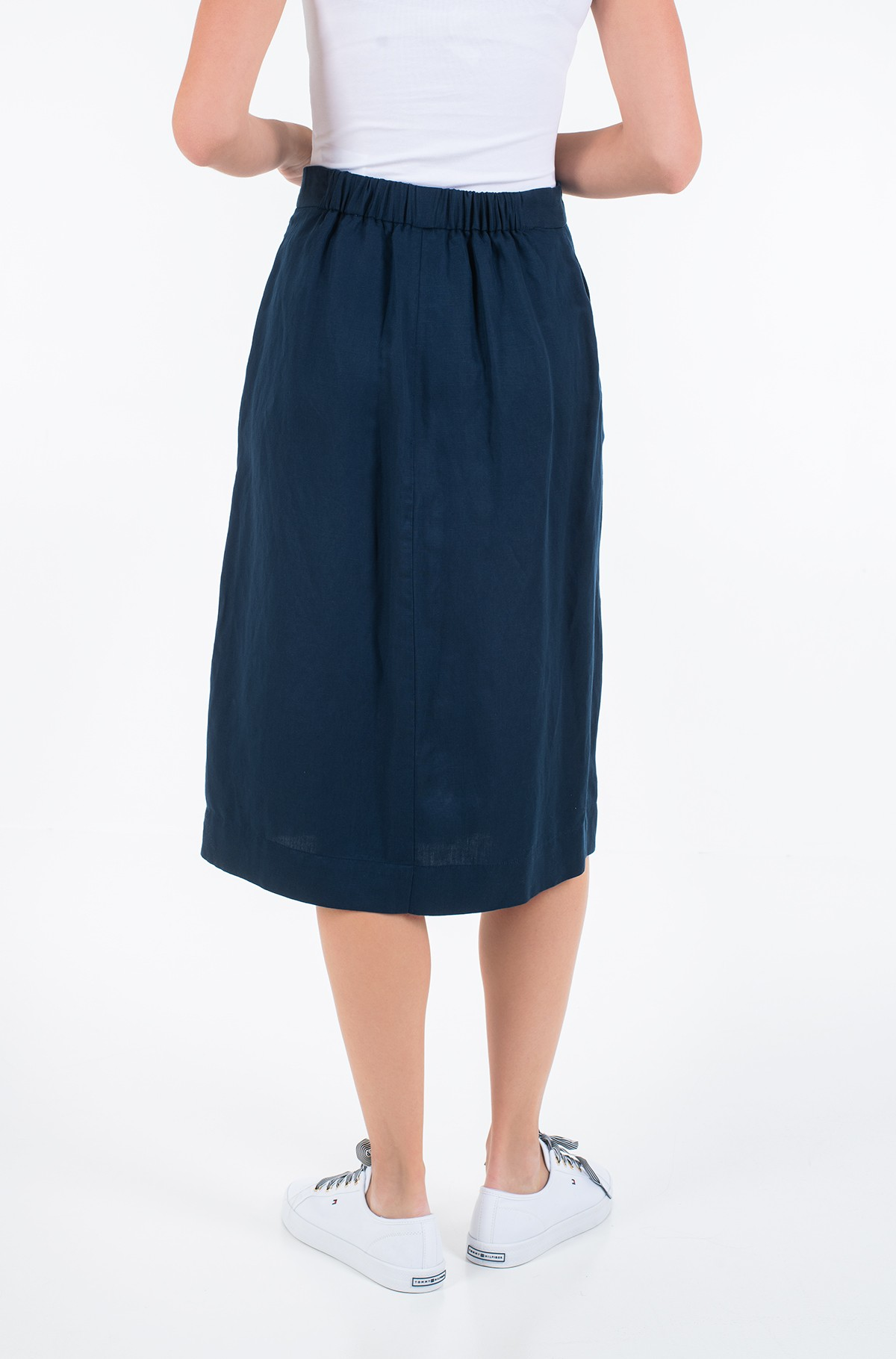 Skirt LINEN TENCEL MIDI SKIRT-full-2