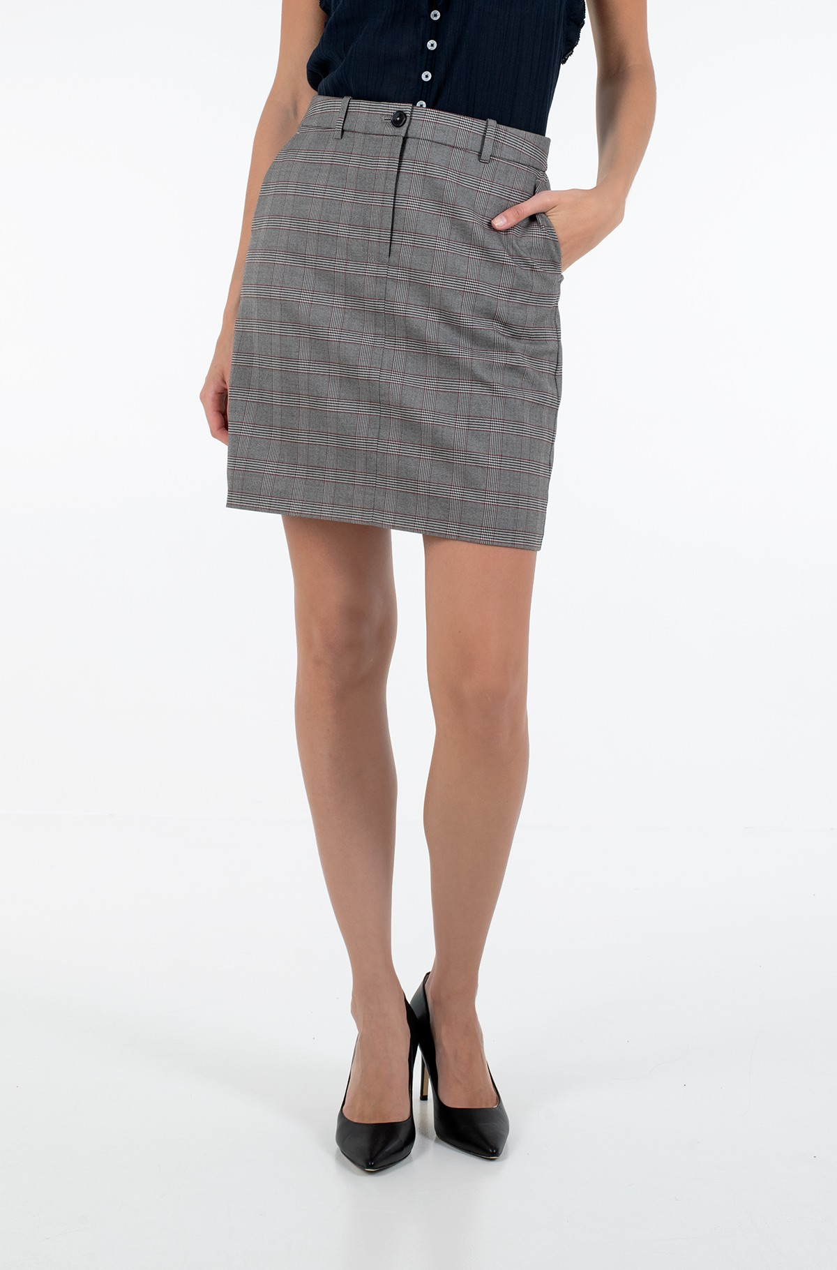 Sijonas Y/D POW CHECK MINI SKIRT-full-1
