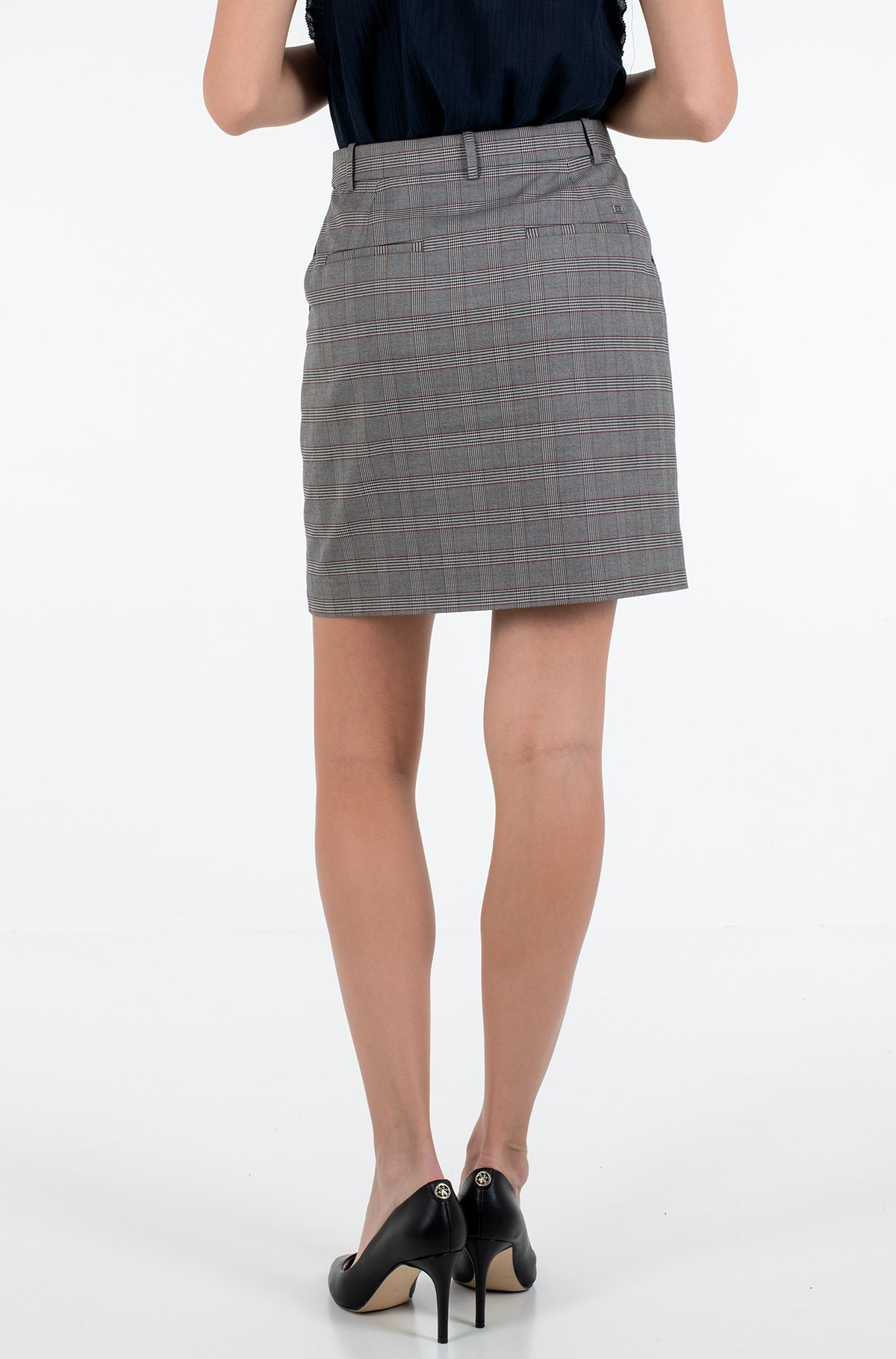 Sijonas Y/D POW CHECK MINI SKIRT-full-2